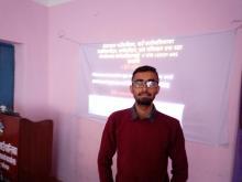 IT तालिमको प्रशिक्षण गर्दै सू.प्र.अ. हरि खनाल